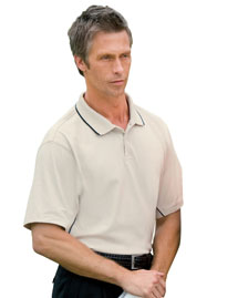 Mens Dri Fast Textured Sport Polo