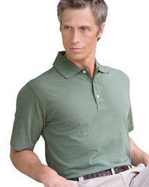 Devon & Jones D355 Mens Ottoman Stripe Polo at bigntallapparel
