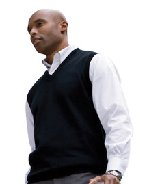 Devon & Jones D477 Mens V Neck Vest at bigntallapparel