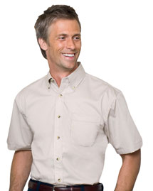 Mens Short Sleeve Five-Star Performance Twill