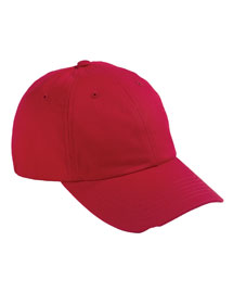 Devon & Jones D845GR Mens 6 Panel Organic Cotton Baseball Cap at bigntallapparel