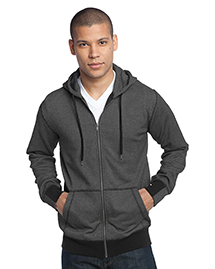 District Threads DM390 Mens Mini Stripe Full-Zip Hoodie.  at bigntallapparel