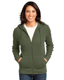 Ladies Heavyweight Thermal Full-Zip Hoodie. DM430