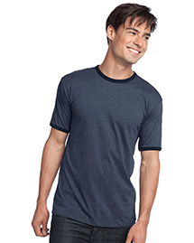 District Threads DT125 Mens Heathered Jersey Perfect Weight Ringer Tee at bigntallapparel
