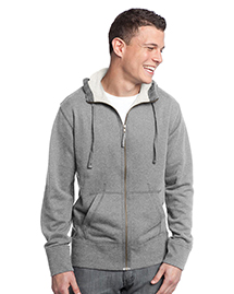 District Threads DT133 Mens Vintage French Terry Full Zip Hoodie at bigntallapparel
