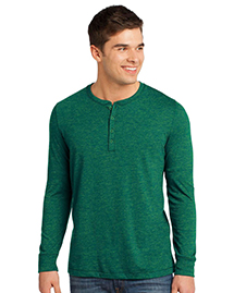 District® Young Mens Gravel 50/50 Long Sleeve Henley Tee DT1401
