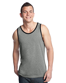 District Threads DT1500 Young Mens Cotton Ringer Tank  at bigntallapparel