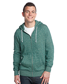 District Threads DT192 Young Mens Marled Full-Zip Hoodie  at bigntallapparel