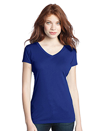 District® Juniors Modal Blend Double V-Neck Tee