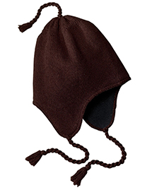District Threads DT604 Mens Knit Hat with Earflaps