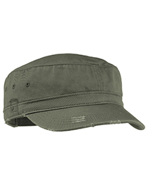 District Threads DT605 Mens Distressed Military Hat at bigntallapparel