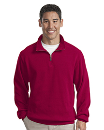 Mens Flatback Rib 1/4 Zip Fleece Jacket