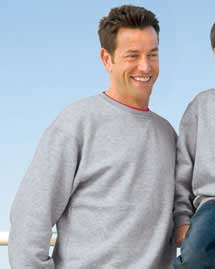 Mens Crewneck SweatShirt with Tipped Trim