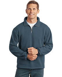 Mens Sueded Finish 1/4 Zip SweatShirt Jacket