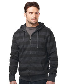 60% Cotton 40% Polyester Mens Full Zip Hooded Jacket with all over tonal print,