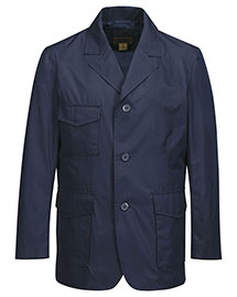 Tri-Mountain J2996 Men's 100% Polyester 3 Button Blazer with W/R 600mm, at bigntallapparel