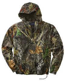 Mens Mossy Oak 1/2 Zip Pullover Hooded Jacket