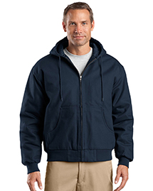 CornerStone J763H Mens Hooded Work Jacket at bigntallapparel