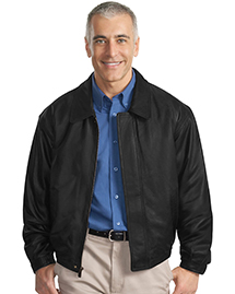 Mens Leather Bomber Jacket...