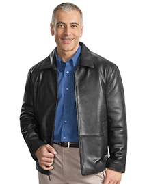 Port Authority Signature J785 Mens Park Avenue Lambskin Jacket at bigntallapparel