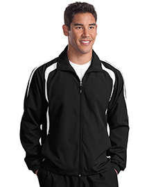 Sport-Tek JST60 Mens Colorblock Raglan Jacket at b