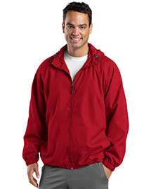 Sport-Tek JST73 Mens Hooded Raglan Jacket at bignt
