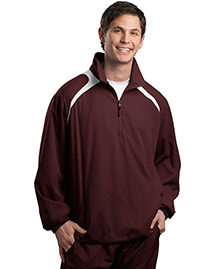 Sport-Tek JST75 Mens 1/2 Zip Wind Shirt at bigntallapparel
