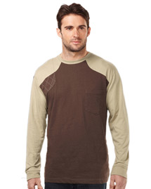 Mens LS Shooter Tee w/Contrast Quilted Patch
