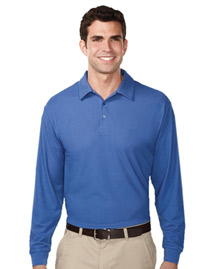 Mens 100% Polyester UC Long Sleeve Golf Shirt.