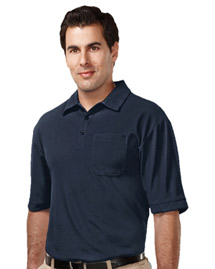 Mens 100% Polyester UC S/S Golf Shirt,