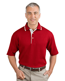 Port Authority K447 Mens Pinpoint Knit Polo Sport