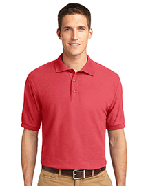 Mens Extended Sized Silk Touch Polo Sport Shirt