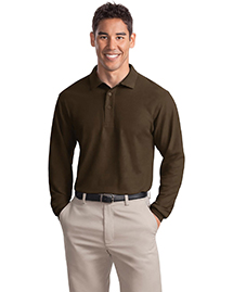 Port Authority K500LS Mens Silk Touch Long Sleeve