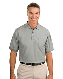 Mens Silk Touch Pique Knit Polo Sport Shirt with Pocket