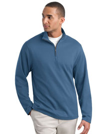 Mens Silk Touch Mesh Knit 1/4 Zip Fleece Jacket