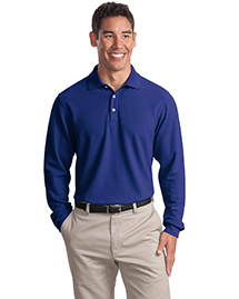Mens Long Sleeve EZ Cotton Pique Sport Shirt