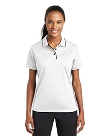 Ladies Dri-Mesh Polo with Tipped Collar and Piping.  L467
