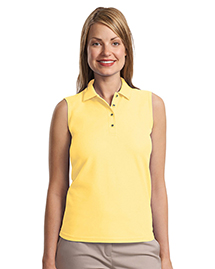 Ladies Silk Touch™ Sleeveless Polo.  L500SVLS