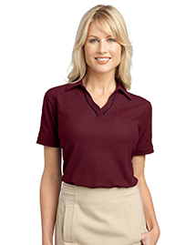 Ladies Silk Touch™ Piped Polo. L502