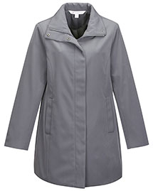 Tri-Mountain LB2988 Women's 100% Polyester Woven Water Resistent Trench Coat Lined With Polyester at bigntallapparel