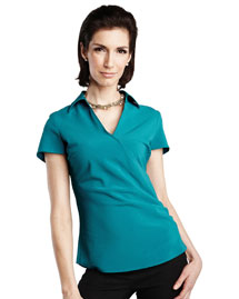 Womens 96% polyester  4% Spandex Woven Shirts.