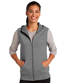 Ladies Hooded Fleece Vest...