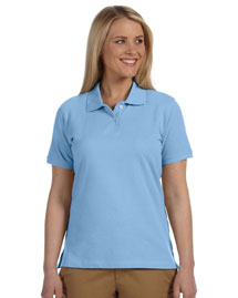 Harriton M100W Ladies' 6.5 Oz. Ringspun Cotton Piqué Short-Sleeve Polo at bigntallapparel