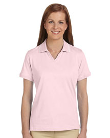 Harriton M140W Ladies' 5.9 Oz. Cotton Jersey Short-Sleeve Polo With Tipping at bigntallapparel