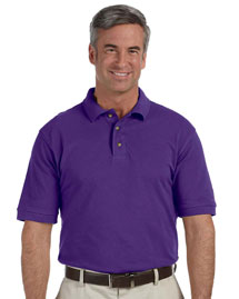 Mens 6 Oz Ringspun Cotton Pique Short Sleeve Polo