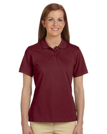 Harriton M200W Ladies' 6 Oz. Ringspun Cotton Piqué Short-Sleeve Polo at bigntallapparel