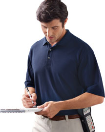 Harriton M265 Mens 5 Oz Easy Blend Polo at bigntallapparel