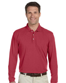 Harriton M265L Mens 5 Oz Easy Blend Long Sleeve Polo at bigntallapparel