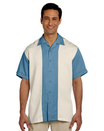 Mens Two Tone Bahama Cord Camp Shirt
