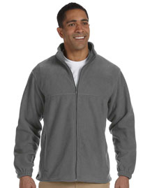 Harriton M990 Mens 8 Oz Full Zip Fleece at bigntallapparel